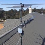Digital Antenna On a grey roof